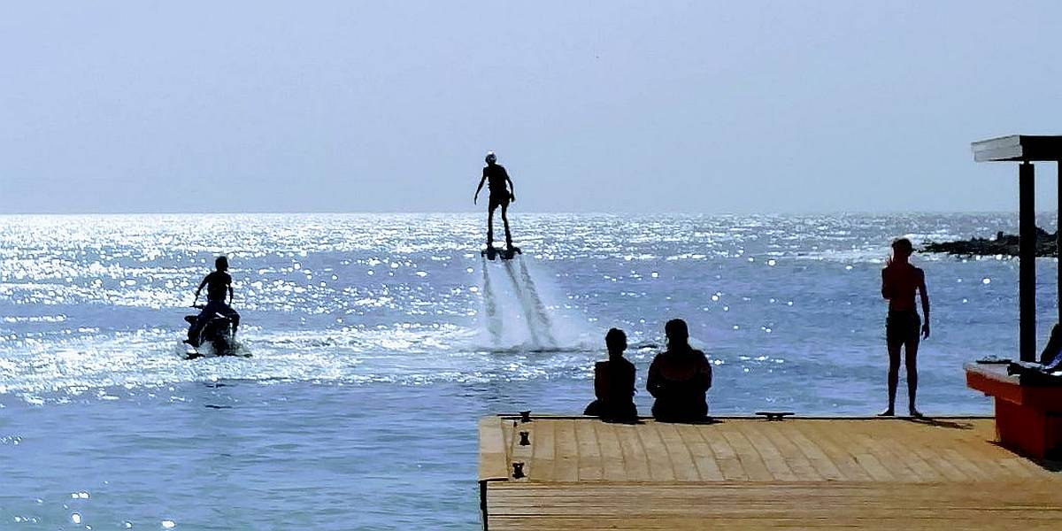 FlyBoarding at Jan-Thiel-Beach